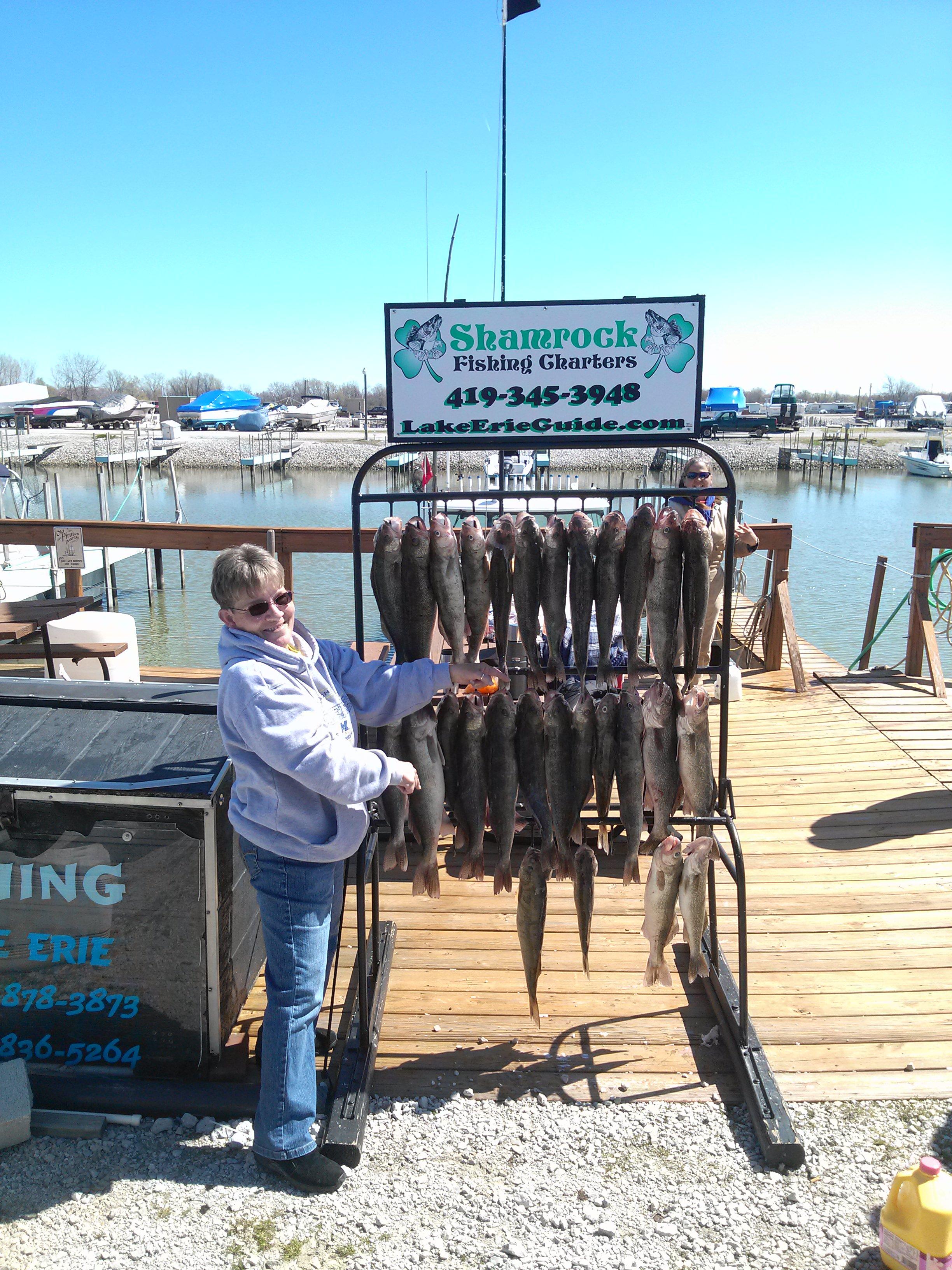Lake erie walleye charters shamrock fishing charters for Ohio one day fishing license