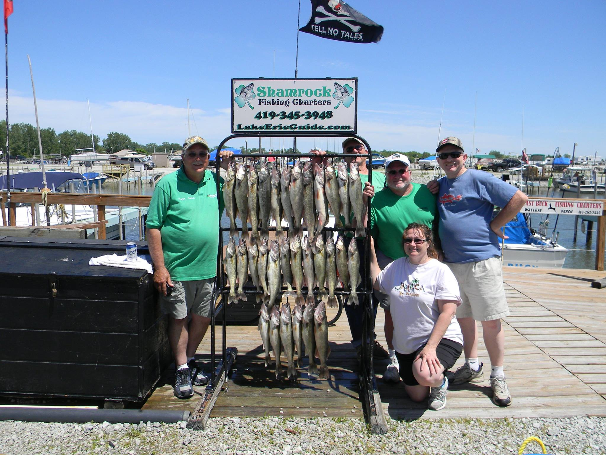 Lake erie fishing reports from shamrock fishing charters for Ohio one day fishing license
