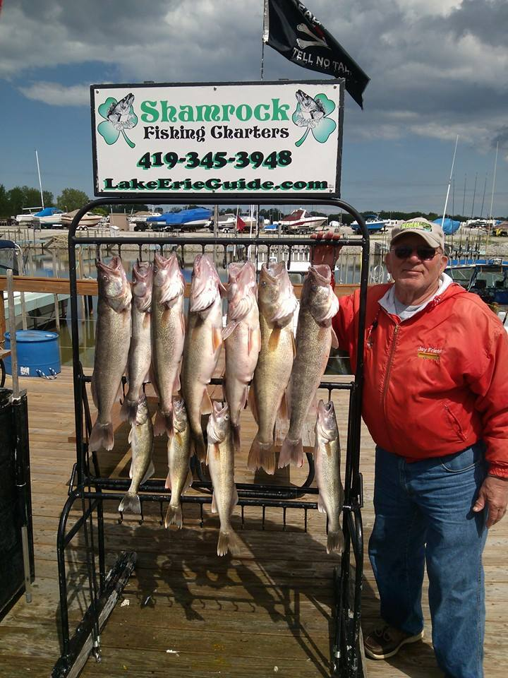 Lake erie fishing reports from shamrock fishing charters for Buy ohio fishing license